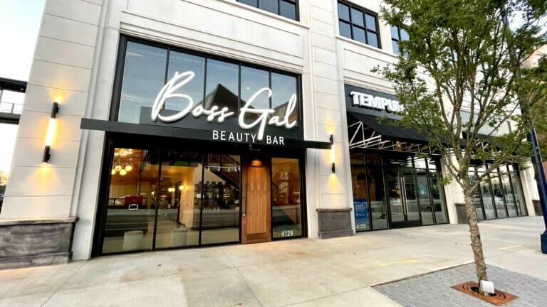 Exterior of Boss Gal Beauty Bar at Easton.