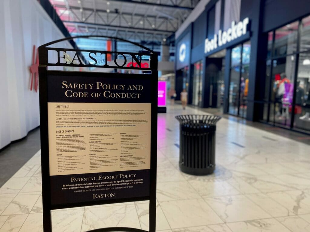 Safety Policy and Code of Conduct Signs in Easton