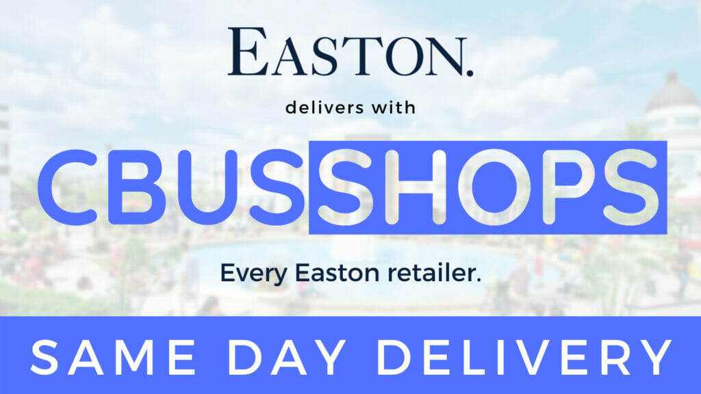 Easton delivers with CbusShops. Every Easton retailer, same day delivery.