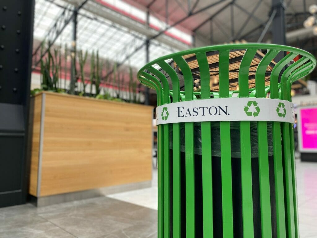 Recycling Can at Easton.