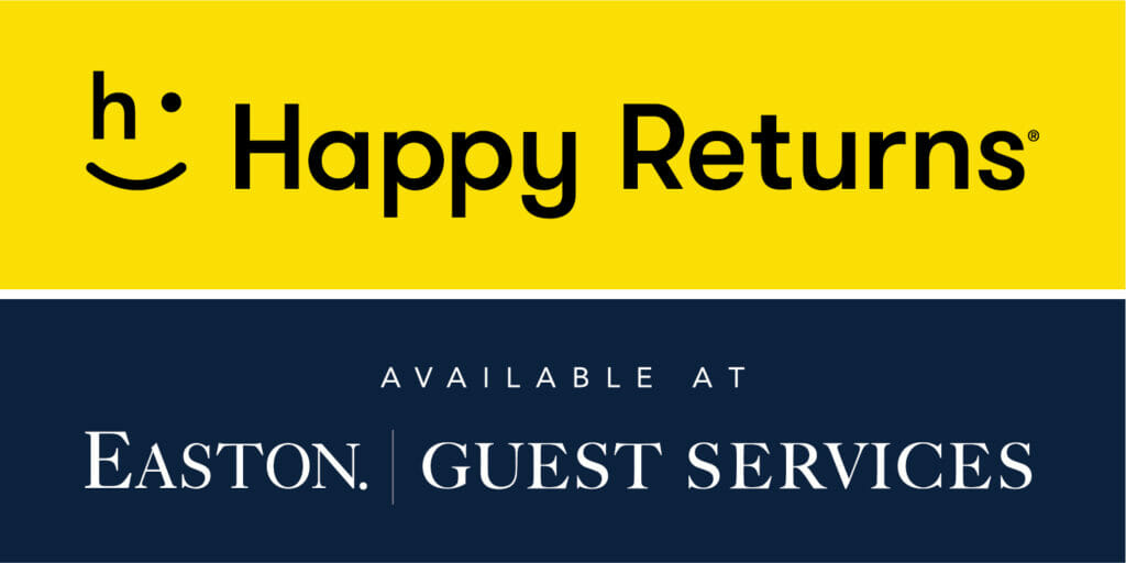 Happy Returns available at Guest Services