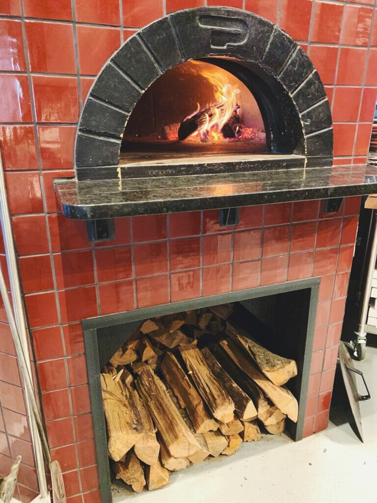 The wood fired oven at Sono Wood Fired, an Italian cuisine restaurant at Easton.