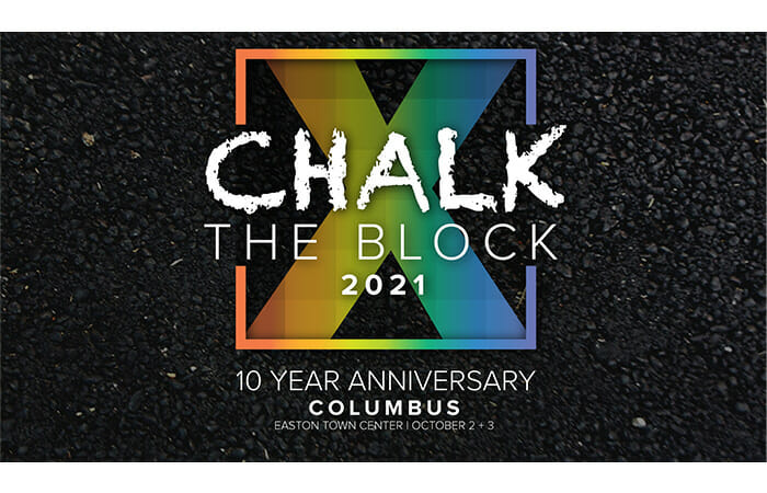 Chalk the Block 2021. 10 Year Anniversary. Columbus, Easton Town Center. October 2-3