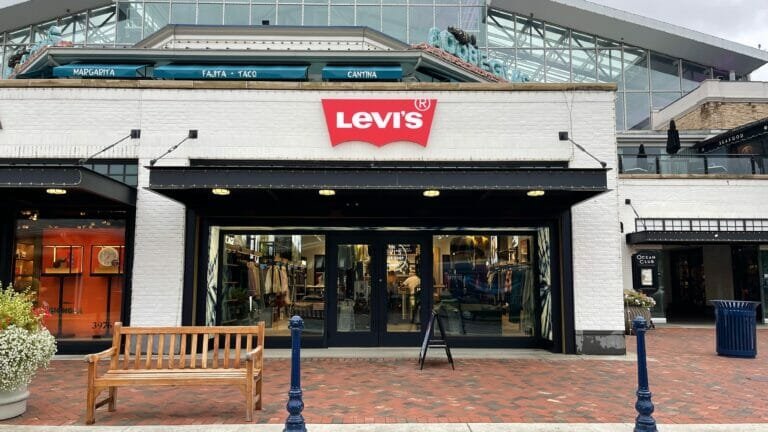 Exterior of Levi's, a jeans and clothing store at Easton Town Center.
