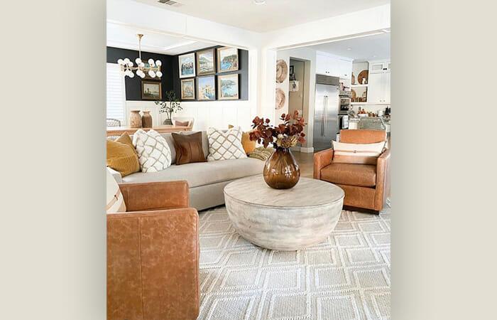 A living room set from Bassett Furniture.