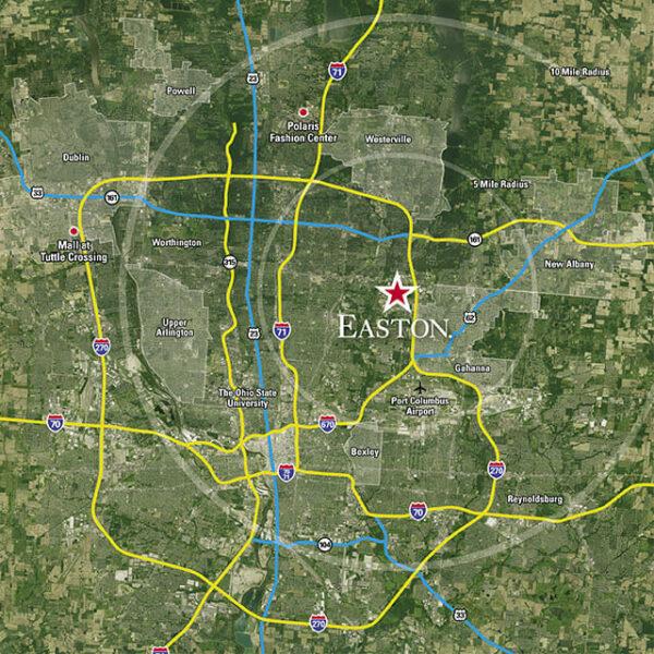 Region map of Easton.